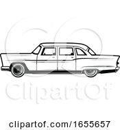 Black And White Vintage Car