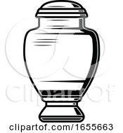 Black And White Urn