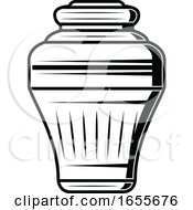 Black And White Urn