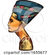 Sketched Nefertiti by Vector Tradition SM
