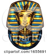 Sketched Egyptian Pharaoh Mask