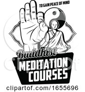 Black And White Buddhist Design