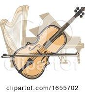 Violin Harp And Piano by Vector Tradition SM