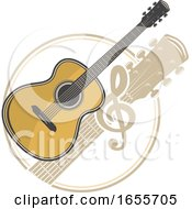 Guitar And Music Note by Vector Tradition SM
