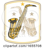 Crossed Saxophones