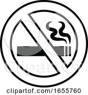Poster, Art Print Of Black And White No Smoking Sign