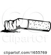 Poster, Art Print Of Black And White Cigarette