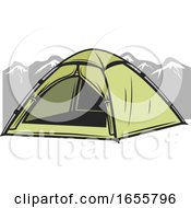 Tent And Mountains by Vector Tradition SM