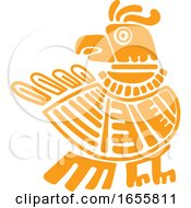 Mayan Aztec Hieroglyph Art Of An Eagle
