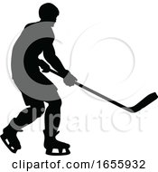 Hockey Sports Player Silhouettes