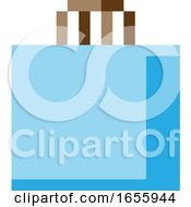 Poster, Art Print Of Shopping Bag 8 Bit Video Game Art Icon