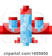 Plane Airplane Aeroplane Pixel Video Game Art Icon