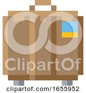 Suitcase Brief Case Pixel 8 Bit Game Art Icon
