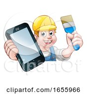 Poster, Art Print Of Painter Decorator Handyman Phone Concept