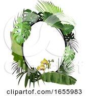 Oval Shaped Foliage Frame