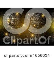 Glitter Gold Disco Lights Background