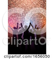 Poster, Art Print Of Party Crowd Background With Glittery Lights