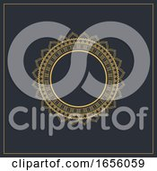 Decorative Background With Circular Elegant Frame