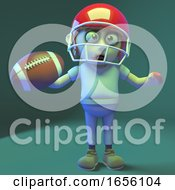 Stupid Undead Zombie Monster Plays American Football