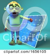 Poster, Art Print Of Solar Powered Zombie Monster Is A Fan Of Green Energy