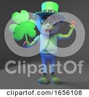 Poster, Art Print Of Irish Descended Zombie Monster Celebrates St Patricks Day