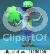 Irish Zombie Monster Celebrates St Patricks Day With Shamrock