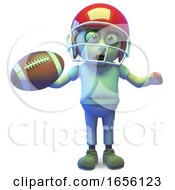 Funny Zombie Monster Playing American Football by Steve Young