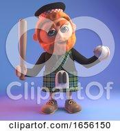 Proud Scottish Man In Kilt Learns Baseball