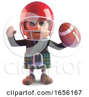 Scottish Man In Kilt Has Taken Up American Football