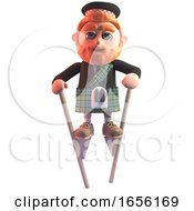 Scottish Man In Kilt On Stilts Makes A Spectacle Of Himself