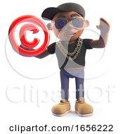 Cool Black Hiphop Rap Artist Holding A Copyright Symbol