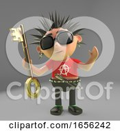 Security Consious Punk Rocker Holding A Key