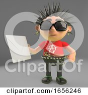Cool Punk Rocker Holding An Envelope