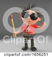 Fire Starter Punk Rocker Holding An Unlit Match
