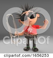 Tidy Punk Rocker Character Uses A Paperclip