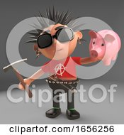 Low Paid Punk Rocker Has To Smash His Piggy Bank With A Hammer