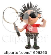 Studious Punk Rocker Looks At Things Through A Magnifying Glass