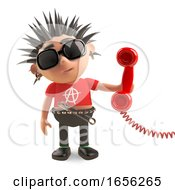 Anti Social Punk Rocker Ansrwers The Telephone Begrudgingly by Steve Young
