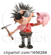 Financially Challenged Punk Rocker Is About To Smash His Piggy Bank by Steve Young