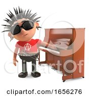 Cartoon Punk Rocker Doesnt Really Want To Play The Piano by Steve Young