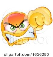 Poster, Art Print Of Yellow Smiley Emoji Punching In Anger