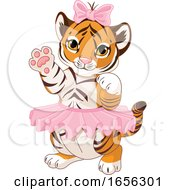 Poster, Art Print Of Cute Female Baby Tiger Wearing A Tutu