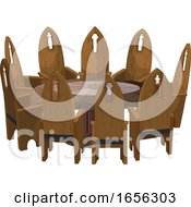 07/10/2019 - Medieval Table And Chairs