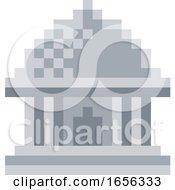 Museum Pixel 8 Bit Video Game Art Icon