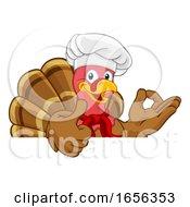 Turkey Chef Thanksgiving Or Christmas Cartoon