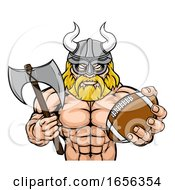 Viking American Football Sports Mascot