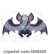 Cute Halloween Vampire Bat Animal Cartoon by AtStockIllustration