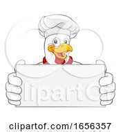 Chicken Chef Cartoon Rooster Cockerel Mascot Sign