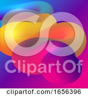 Abstract Design Background With 3D Style Flowing Shape