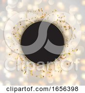 Abstract Music Notes On A Bokeh Lights Background